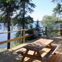 Cloverleaf Cabin Deck
